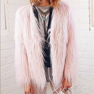 Ladakh x UO Margot Pink Faux Fur Jacket